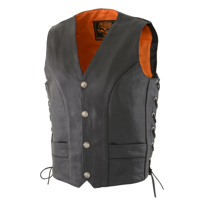 Leather Side Lace Vest