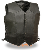Load image into Gallery viewer, Black Classic Biker Vest