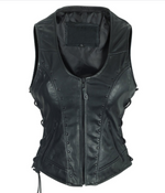 Load image into Gallery viewer, Studded Black Leather Vest