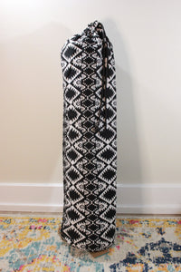 One-of-a-kind, Hand-Made African Print Cotton Yoga Mat Bag - Geometric Fantasy