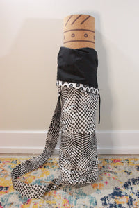 One-of-a-kind, Hand-Made African Print Cotton Yoga Mat Bag - Eclectic Aura