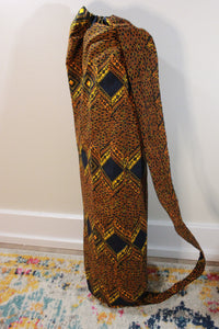One-of-a-kind, Hand-Made African Print Cotton Yoga Mat Bag - Mama Africa