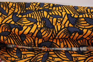 One-of-a-kind, Hand-Made African Print Cotton Yoga Mat Bag - Wassy