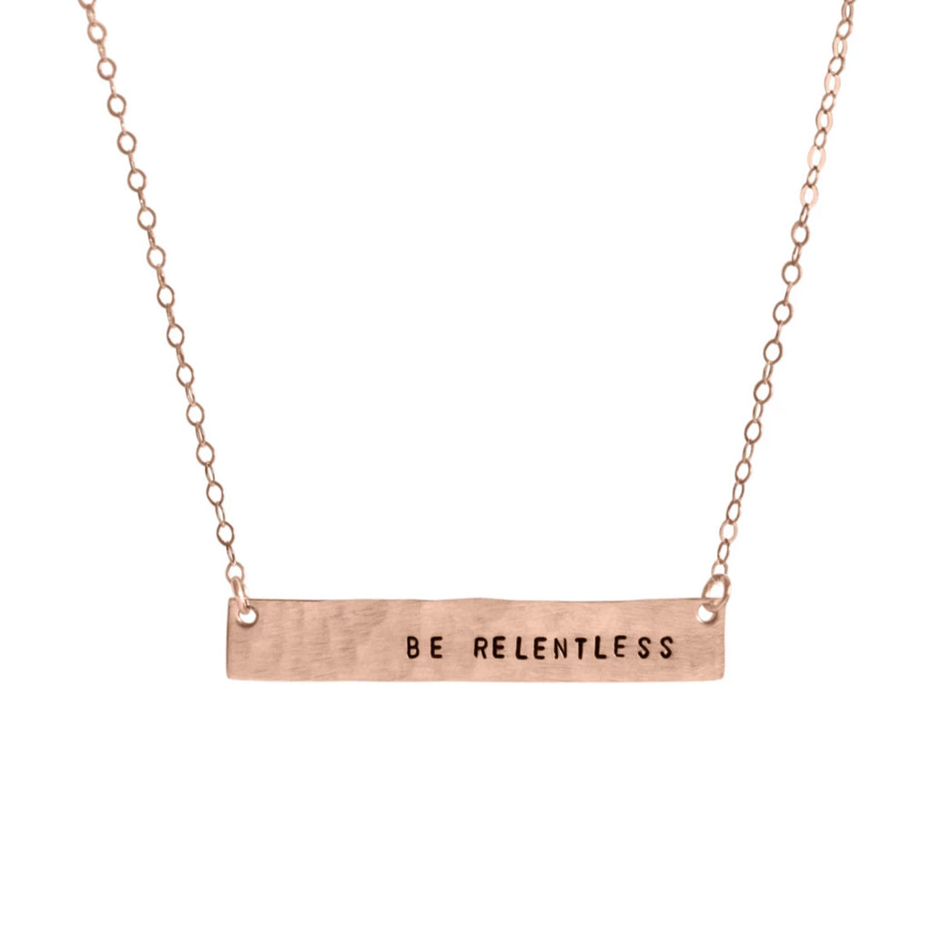 Be Relentless Bar Necklace - BAD BAD Jewelry