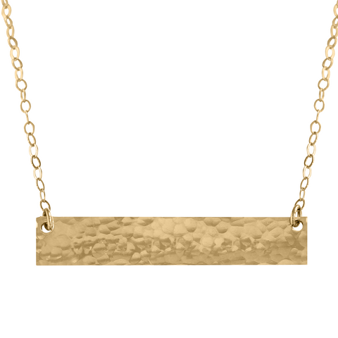 Bar Necklace Textured