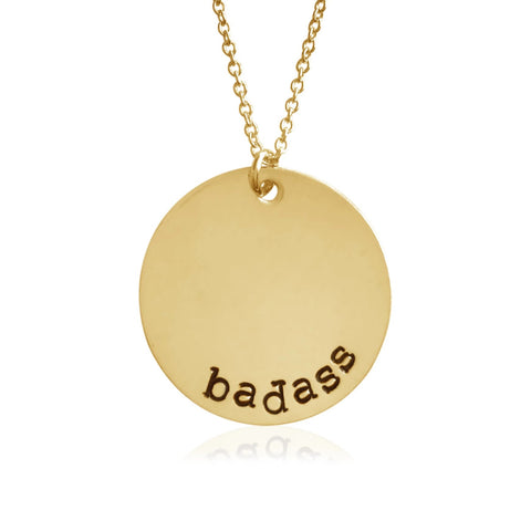 Badass Coin Necklace - BAD BAD Jewelry