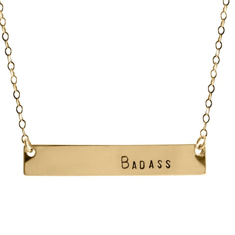 Badass Bar Necklace - BAD BAD Jewelry