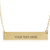 Bar Necklace Smooth | Design Your Own - BAD BAD Jewelry