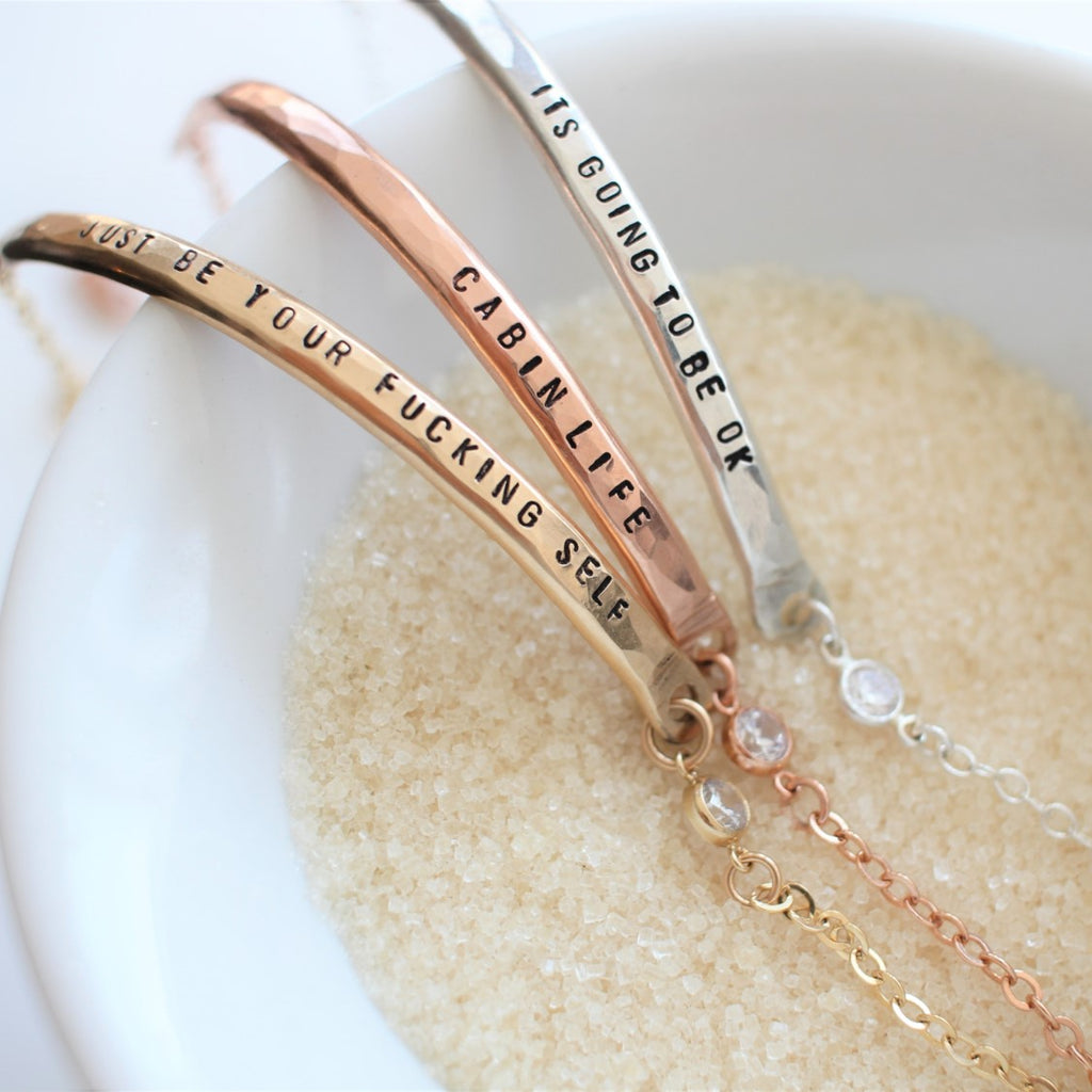 Desire Bar Bracelet with Crystal