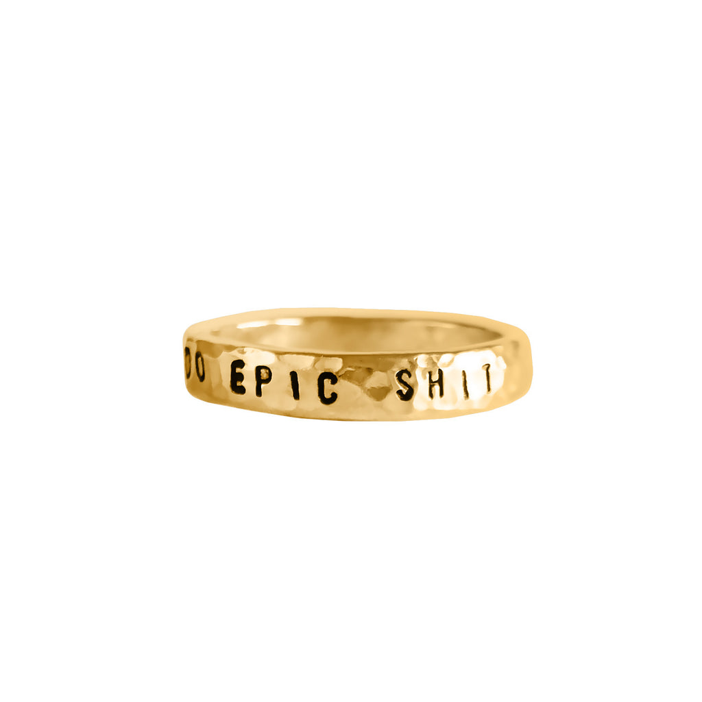 Mantra Statement Ring - BAD BAD Jewelry