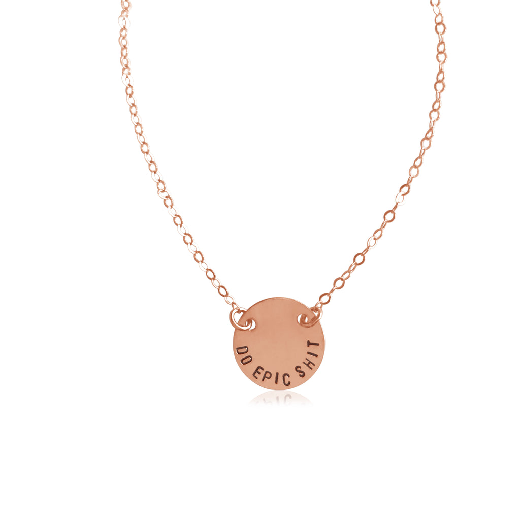 Do Epic Shit Tiny Smooth Coin Necklace - BAD BAD Jewelry