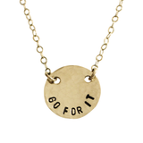 Go For It Coin Necklace
