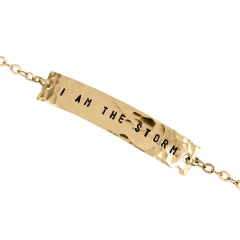 I Am The Storm Bar Bracelet