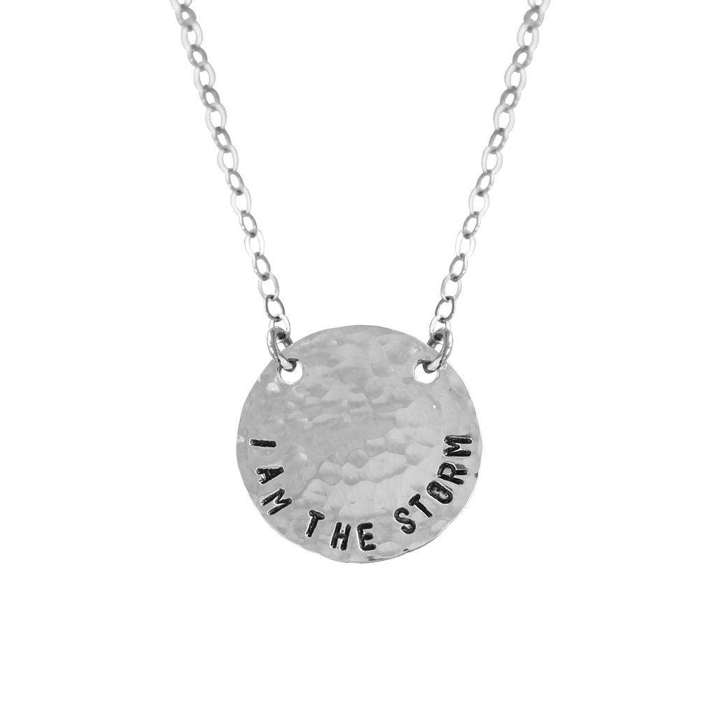I Am The Storm Coin Necklace - BAD BAD Jewelry