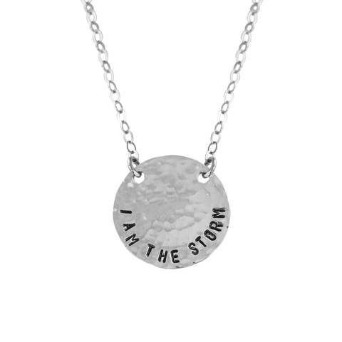I Am The Storm Coin Necklace