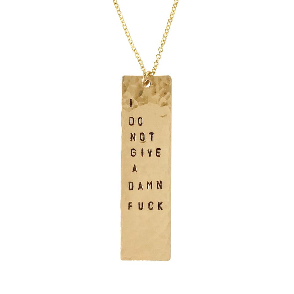 I Do Not Give a Damn Fuck Necklace - BAD BAD Jewelry