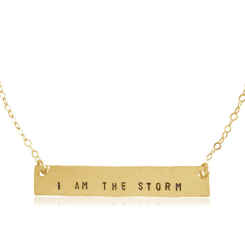 I Am the Storm Bar Necklace