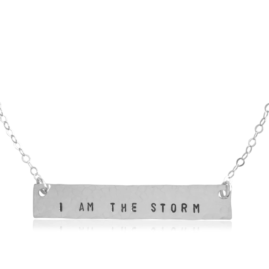 I Am the Storm Bar Necklace - BAD BAD Jewelry