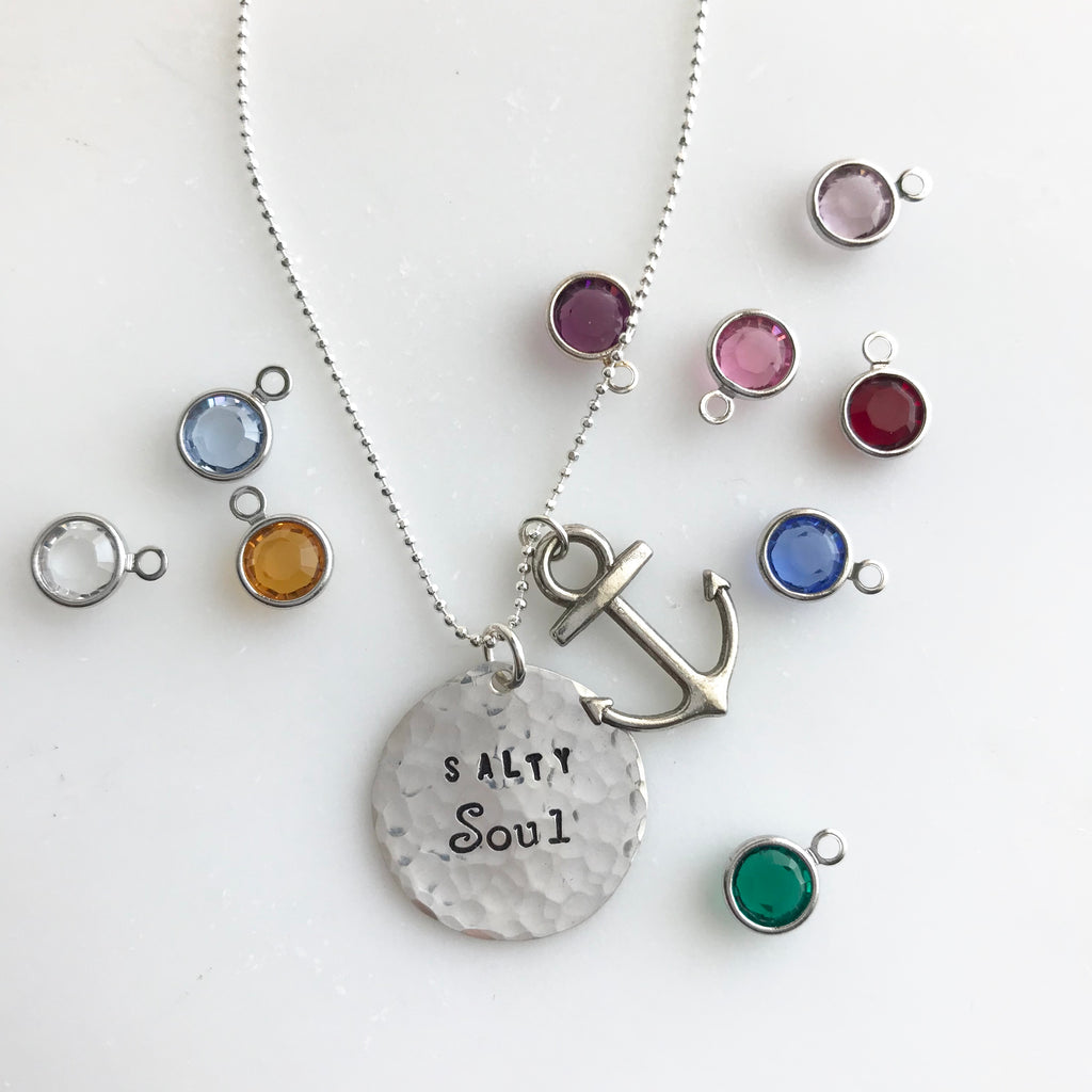 Salty Soul Coin Necklace with Anchor | One of a Kind - BAD BAD Jewelry