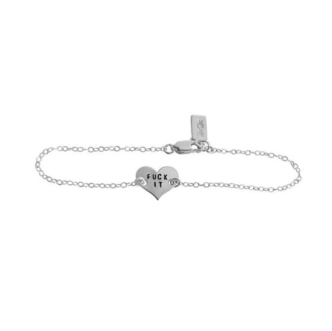 Fuck It Heart Charm Bracelet - BAD BAD Jewelry