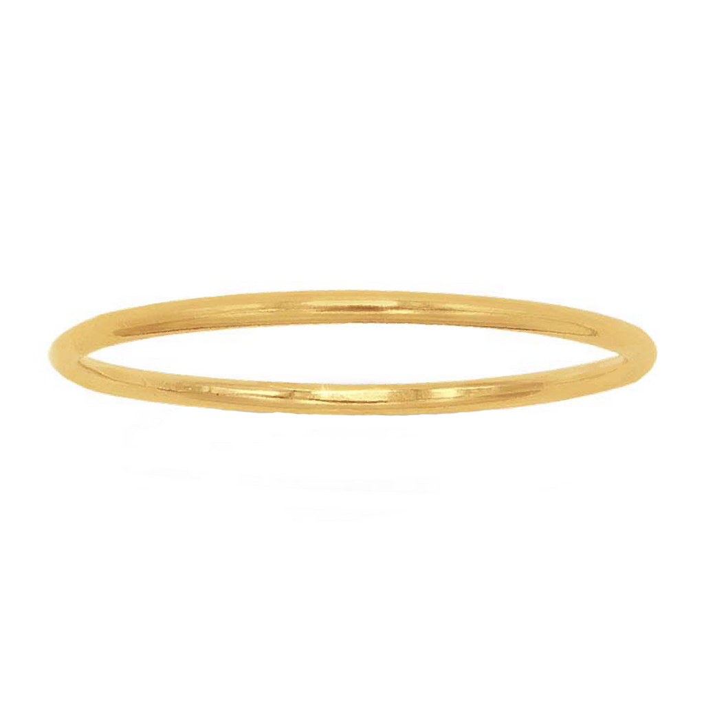 thin gold ring band size 5 6 7 by bad bad jewelry