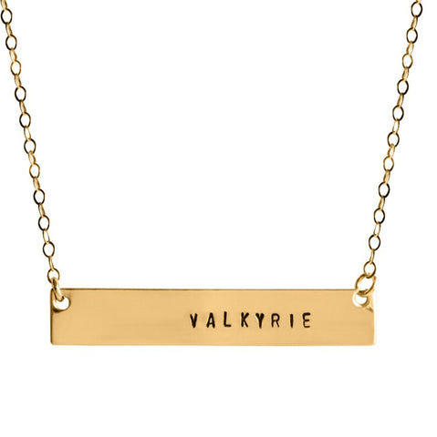 Valkyrie Bar Necklace - BAD BAD Jewelry