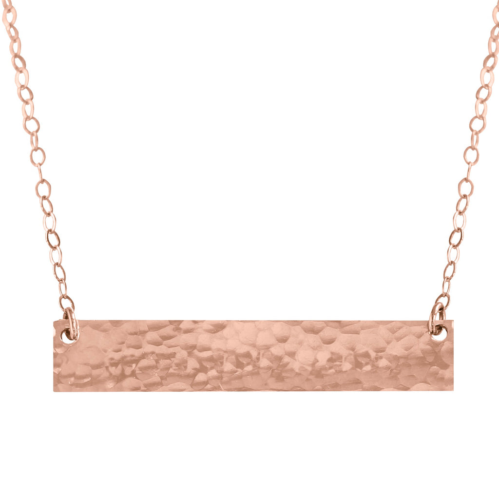 Bar Necklace Textured - BAD BAD Jewelry