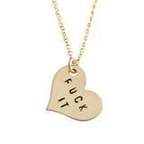 Fuck It Heart Charm Necklace (As Seen on Nasty Gal) - BAD BAD Jewelry