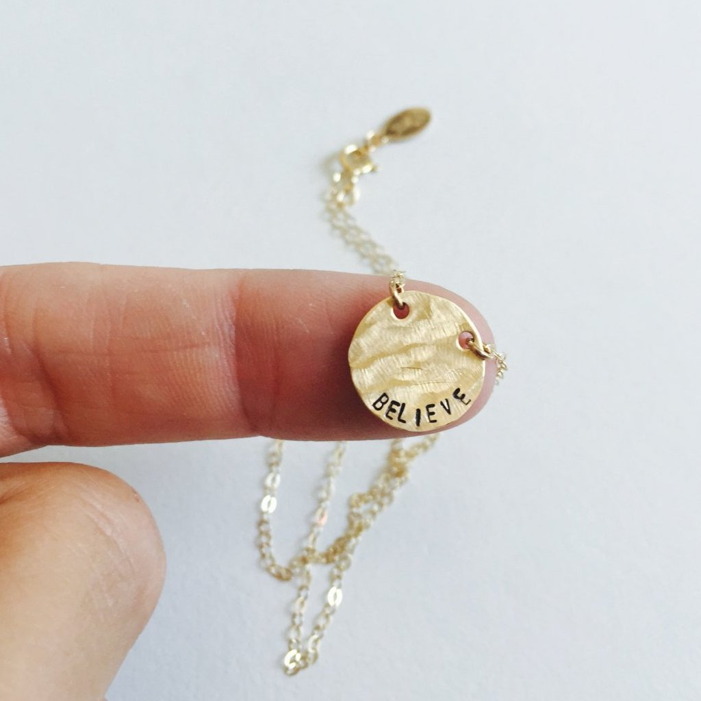 Go For It Coin Necklace - BAD BAD Jewelry