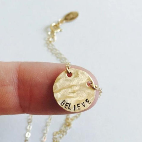 Believe Coin Necklace, BAD BAD - bad ass jewelry