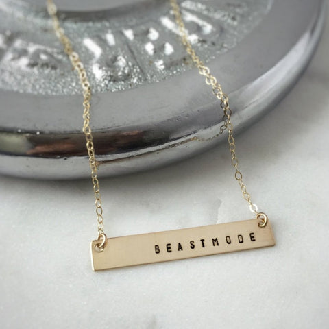 Beastmode Bar Necklace, BAD BAD - bad ass jewelry