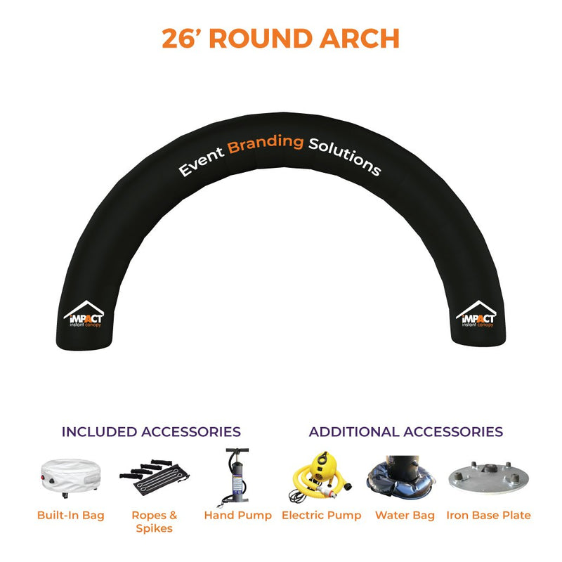 Custom Printed Impact Air Round Inflatable Arch