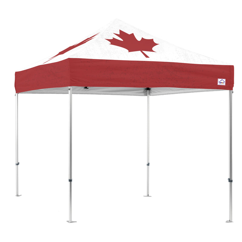 Red & White Maple Leaf 10x10 Canopy Kit