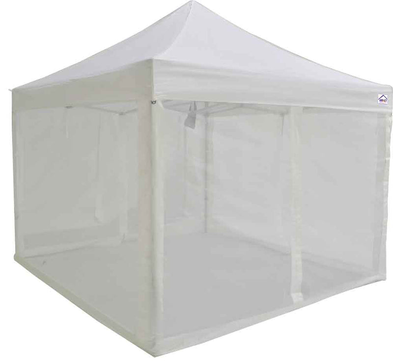 10x10 ALUMIX Pop up Canopy Tent Market Canopy with Sidewalls and Screen Walls