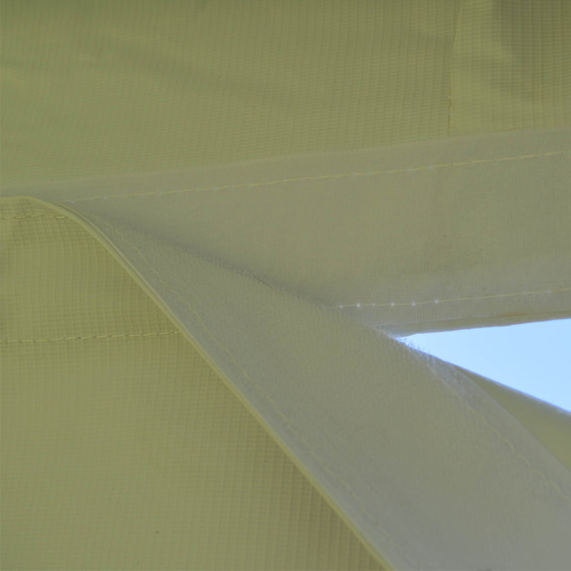 10x10 Heavy Duty Folding High Peak Marquee Canopy Tent - 100% Waterproof PVC Fabric - With Sidewalls