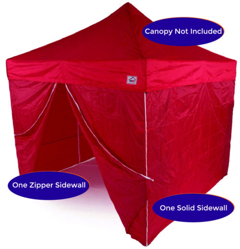 10' Pop up Canopy Tent Side Walls - 190 Denier Recreational Grade