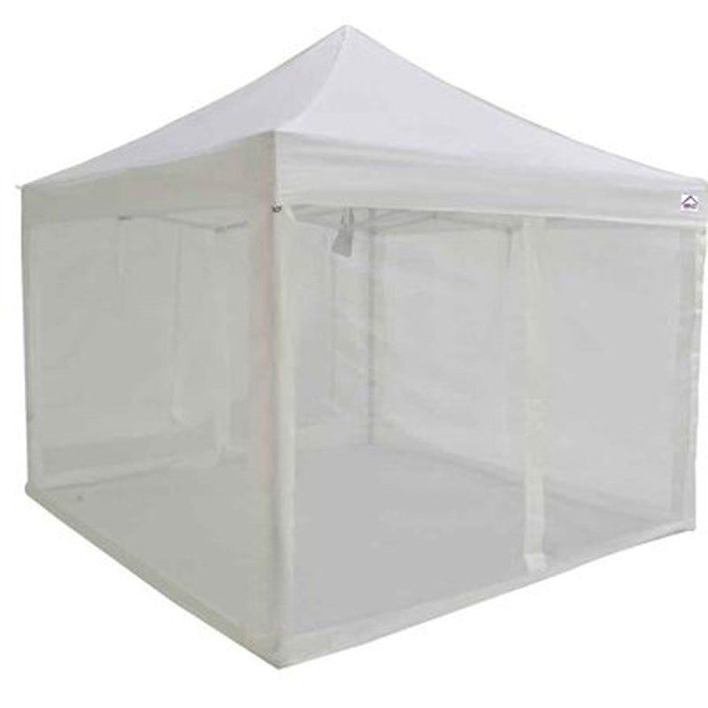 10x10 Commercial Grade Pop up Canopy with Screen Room Mosquito Netting Enclosure - Evento