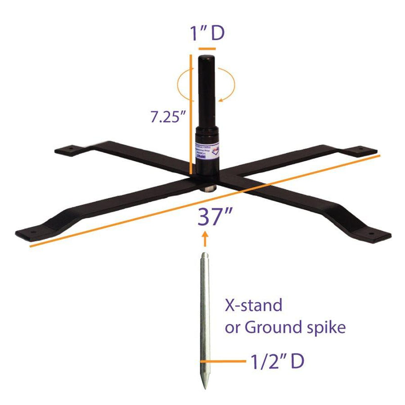 Steel Ball Bearing Flag X-Stand (For i-Catcher Flags)