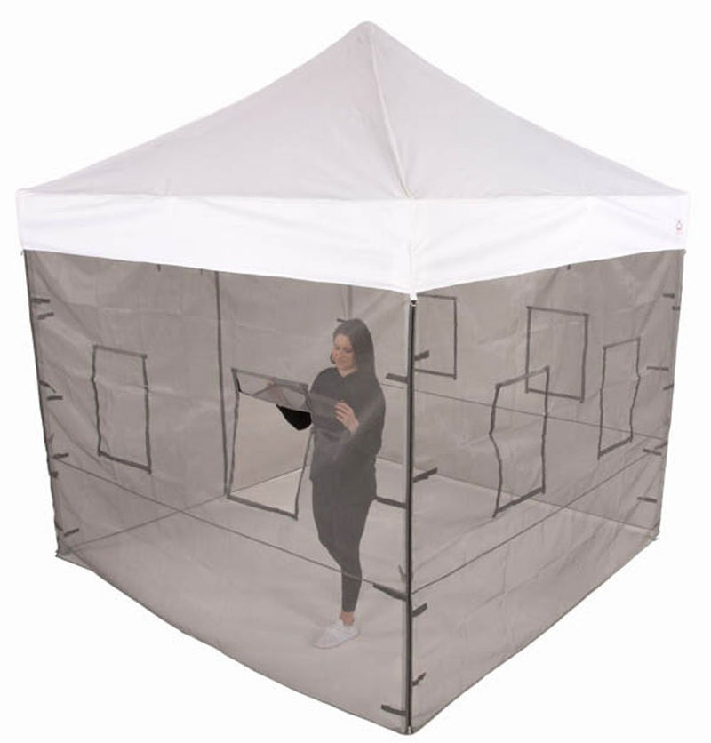10x10 Pop up Canopy Food Service Mesh Sidewalls with Windows (WALLS ONLY)