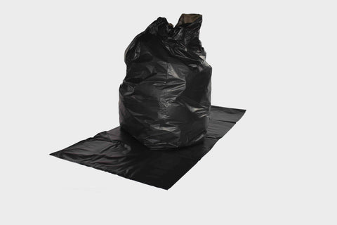 "18x29x38"" Heavy Duty Black Sack - 35mu"