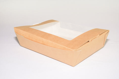 "180x135x45mm Kraft Window Box (7""x5.5""x2"")"