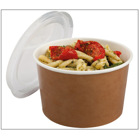 470ml Round Kraft Multifood Pot & Lid