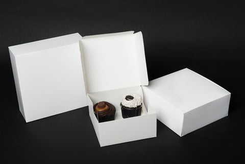 "8""x8""x3"" White Quick Service Box"