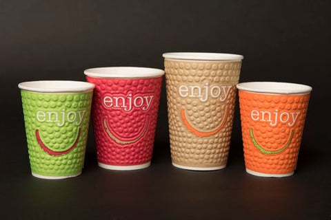 16oz Enjoy Paper Double Wall Hot Cup