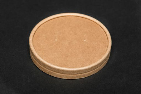 8/12oz Kraft Lids (Microwaveable)