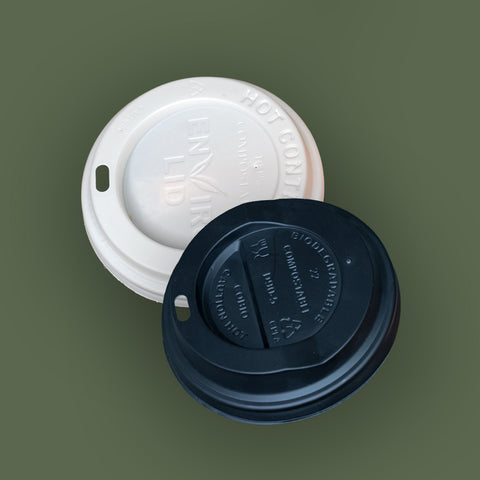 CPLA Black Domed Lid Fits 12/16oz Cup