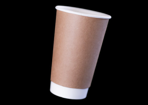 16oz Kraft Paper Double Wall Hot Cup