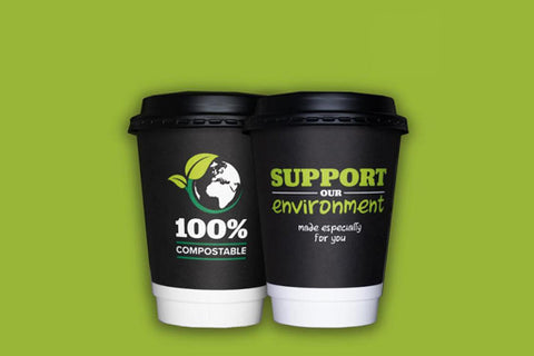 12oz Compostable Double Wall Hot Cup