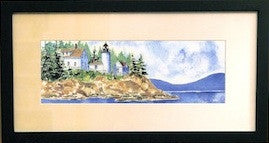 Bass Harbor Lighthouse Watercolor Print
