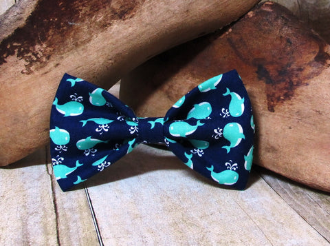 Blue Whales Pre Tied Bow Tie